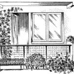 Balkon - skrzynki z kwiatami
