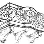 Balkon zabytkowy z końca XVIII wieku