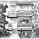 Balkony w domu szeregowym
