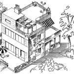 Budynek z trzema typami tarasów