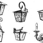 Kute lampy, latarnie, kinkiet - przykłady rękodzieła kowalskiego