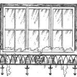 Ozdobny pojemnik-kosz z prętów