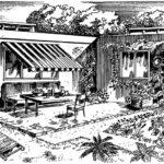 Rozwiązanie tarasu w zamkniętym ogródku budynku atrialnego