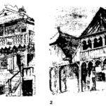 Stare domy według rysunków Jana Matejki