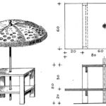 Stolik do kącika wypoczynkowego pod parasolem