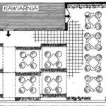Taras przy stałym wnętrzu kawiarni zlokalizowanej na poziomie I piętra