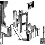 Wykonane z drewna układy pionowych kompozycji przestrzennych - dla dziecka do zabawy na tarasie