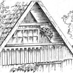Loggia w szczycie jednorodzinnego budynku drewnianego